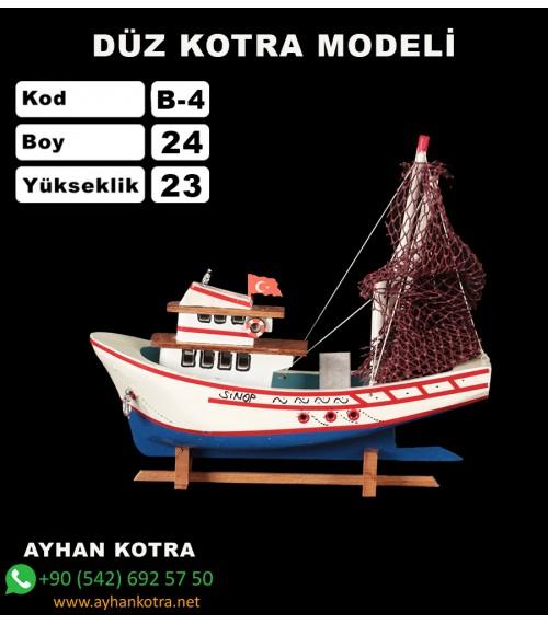 Balıkcı Gemi Maketi Kod B4 Ebat 24X21
