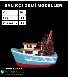 Balıkcı Gemi Maketi Kod B1 Ebat12X10