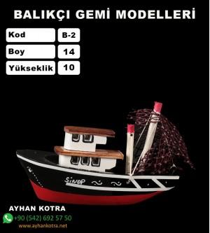 Balıkcı Gemi Maketi Kod B2 Ebat14X10