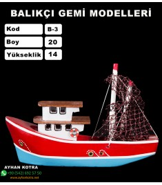 Balıkcı Gemi Maketi Kod B3 Ebat 20X14