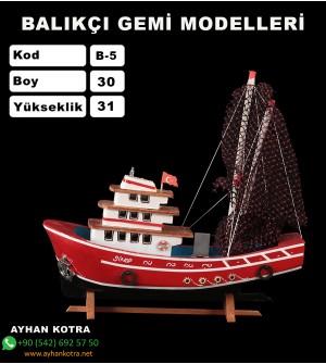 Balıkcı Gemi Maketleri Ebat 30X31 Kod B5