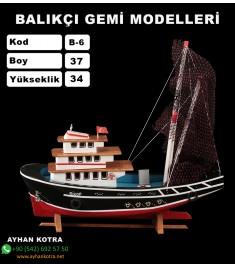 Balıkcı Gemi Maketi Kod B6 Ebat 37X34