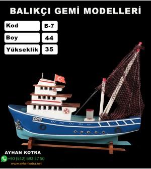 Balıkcı Gemi Maketi Kod B7 Ebat 44X35