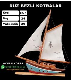 Düz Bezli Kotralar Kod BK1 Ebat 24X29