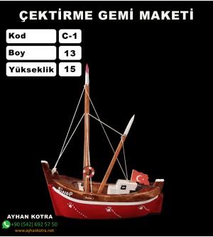 Karadeniz Çektirme Gemi Maketi Kod C1 Ebatları 13X15