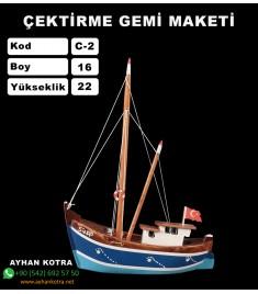 Karadeniz Çektirme Gemi Maketleri Ebat Boy:16X22