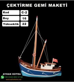 Karadeniz Çektirme Gemi Maketleri Ebat Boy:14X21