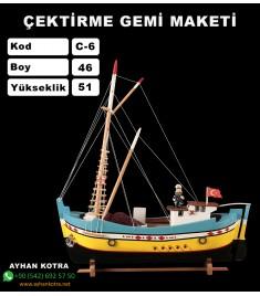 Çektirme Gemi Maketleri Kod C6 Ebat 46X51