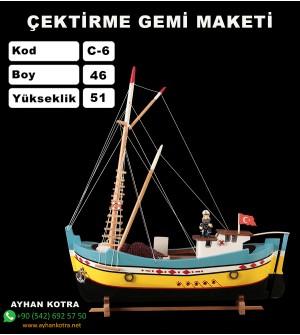 Çektirme Gemi Maketleri Boy 47X52