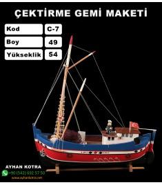 Çektirme Gemi Maketleri Kod C7 Ebat 49X51