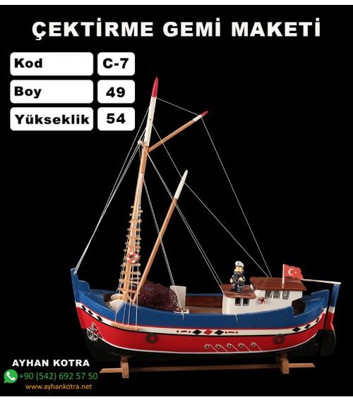 Çektirme Gemi Maketleri Kod C-7 Ebat 47X55