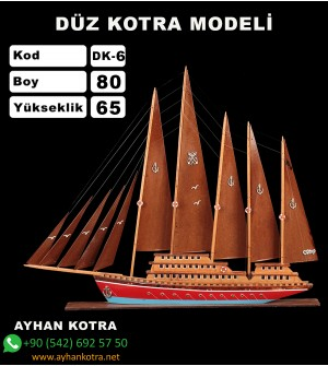 Düz Kotra Maketleri Kod DK6 Ebat 80X65
