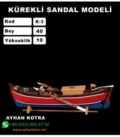 Kürekli Sandal Maketi Kod K3 Ebat 40X10