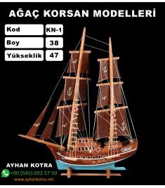 Ağaç Korsan Modelleri Kod KN1 Ebat 38X47