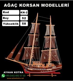 Ağaç Korsan Modelleri Kod KN2 Ebat 52X58