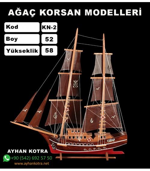 Ağaç Korsan Modelleri Kod KN2 Ebat 50X58