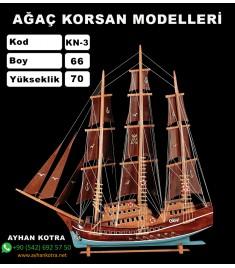 Ağaç Korsan Modelleri Kod KN3 Ebat 66X70