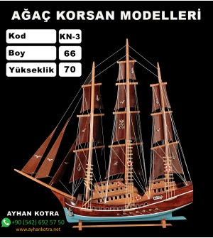 Ağaç Korsan Modelleri Kod KN3 Ebat 62X67