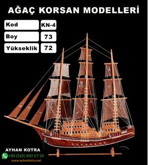 Ağaç Korsan Modelleri Kod KN4 Ebat 73X72