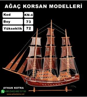 Ağaç Korsan Modelleri Kod KN4 Ebat 68X72