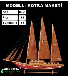 Modelli Kotra Maketi Kod ML1 Ebat 62X59