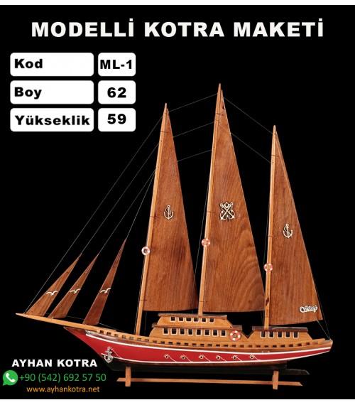 Modelli Kotra Maketi Kod ML1 Ebat 64X59