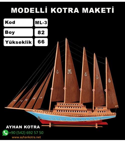 Modelli Kotra Maketi Kod ML3 Ebat 89X69
