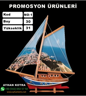 Baskılı Gemi Maketi Ebat 30x31 Kod NO:1