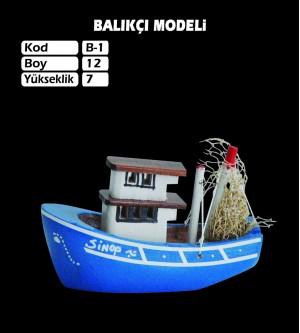 Balıkcı Gemi Maketi Kod B1 Ebat12X7