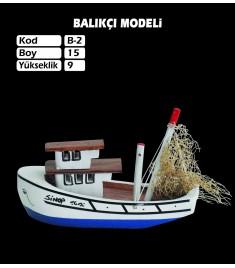 Balıkcı Gemi Maketi Kod B2 Ebat15X9