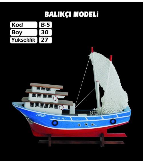 Balıkcı Gemi Maketleri Ebat 30X27 Kod B5