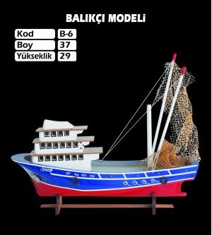 Balıkcı Gemi Maketi Kod B6 Ebat 37X29