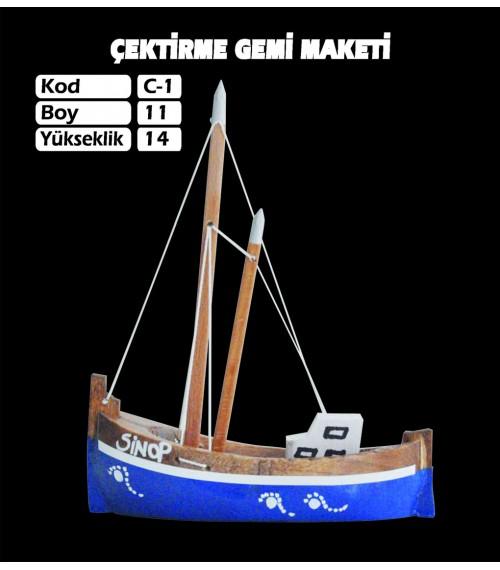 Karadeniz Çektirme Gemi Maketi Kod C1 Ebatları 11X14