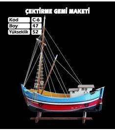 Çektirme Gemi Maketleri Kod C6 Ebat 47X52
