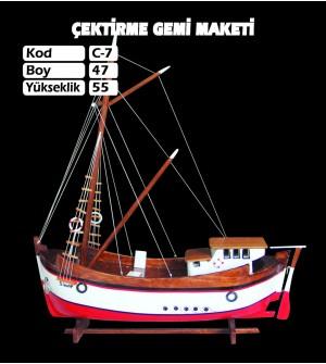 Çektirme Gemi Maketleri Kod C7 Ebat 47X55