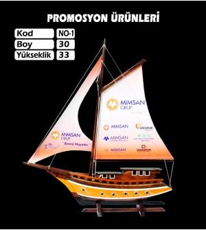 Baskılı Gemi Maketi Ebat 30x33 Kod No1