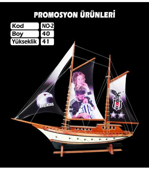 Baskılı Gemi Maketi Ebat 40x41 Kod No2