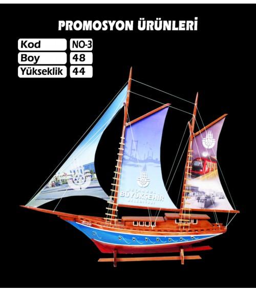 Baskılı Maket Gemi Ebat 48x44 Kod No3