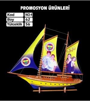 Baskılı Gemi Maketi Ebat 62x56 Kod No4