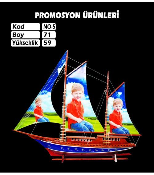 Baskılı Gemi Maketi Ebat 71x56 Kod No5