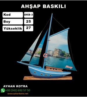 Yelken Baskı Modelleri Kod DKB-3 Ebat 25x27